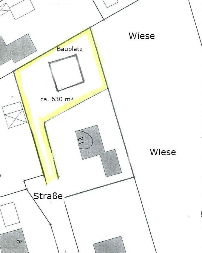 Lageplan Baugrundstück